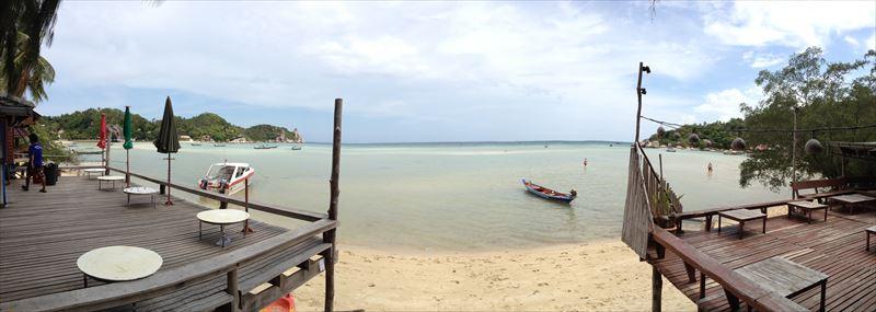【タオ島】ブッダビュー前のビーチ
