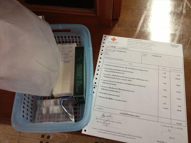 【バンコク】スネークファームでの予防接種