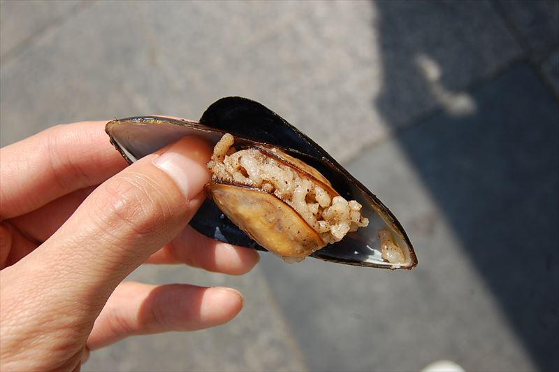 【イスタンブール】ムール貝のピラフ詰