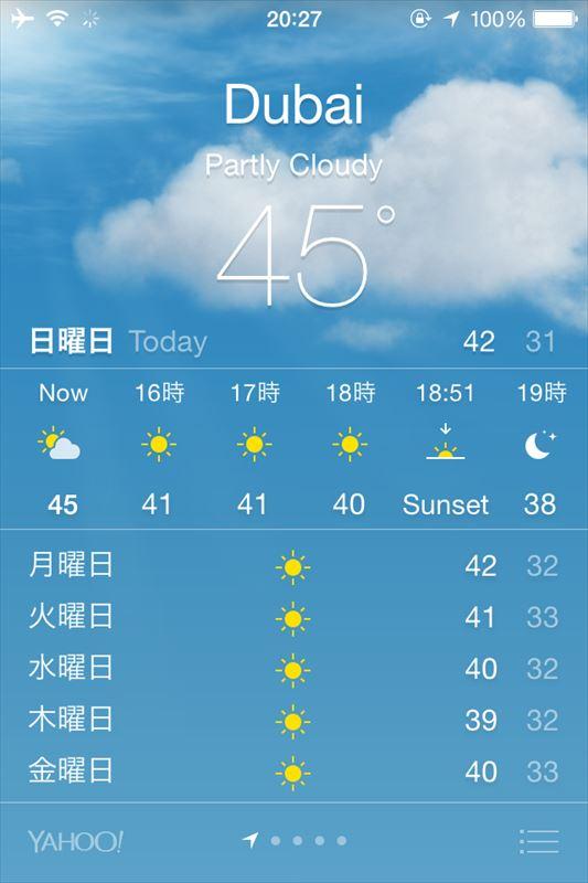 【ドバイ】気温