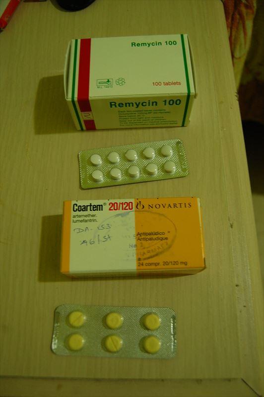マラリア予防薬・ドキソサイクリンと治療薬・コアルテム