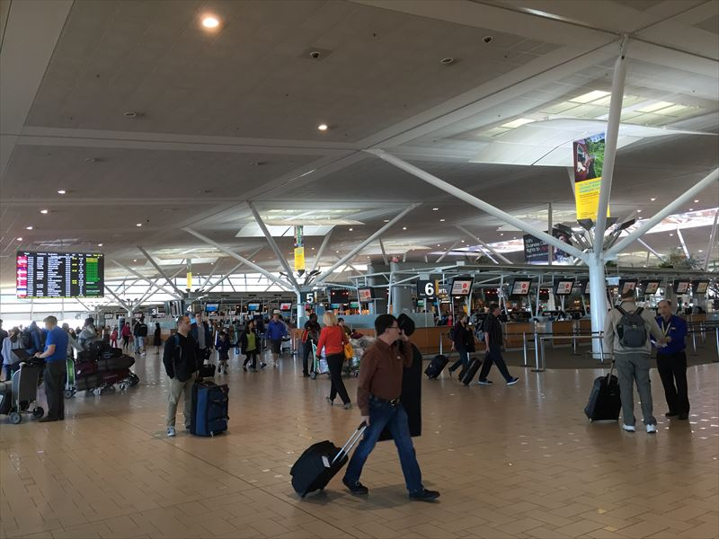 【ブリスベン】ブリスベン空港の出発ロビー