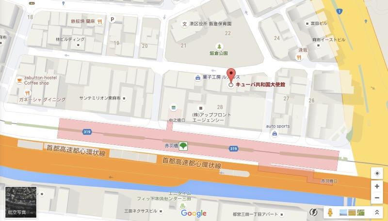 キューバ大使館@東京の地図
