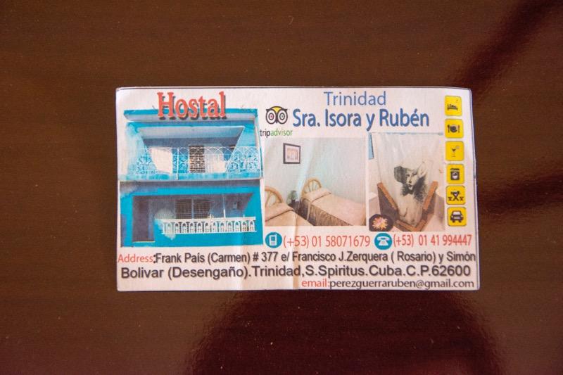 【キューバ】トリニダーの安宿