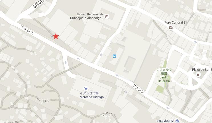 【グアナファト】バスターミナル行き市バス乗り場