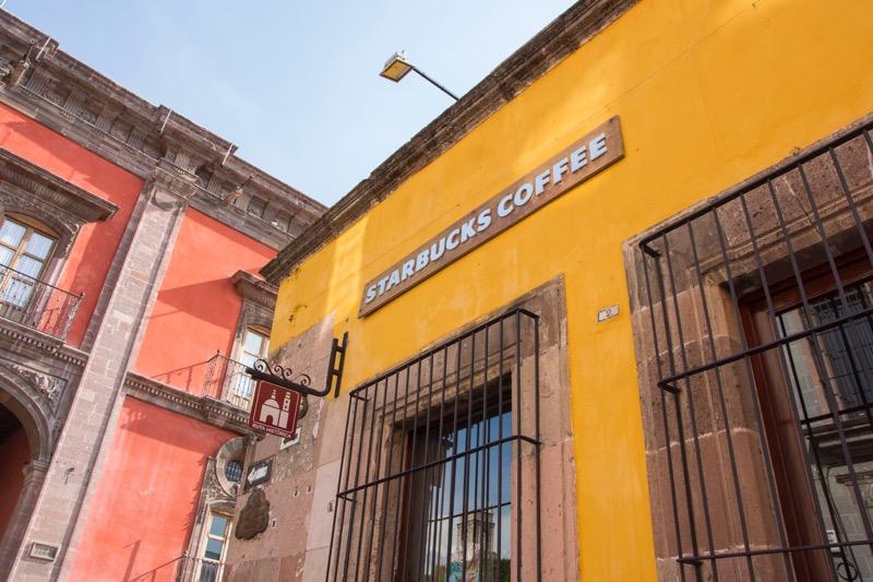 【メキシコ】サンミゲル・デ・アジェンデのスタバ