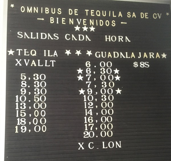 【メキシコ】テキーラ村→グアダラハラのバス