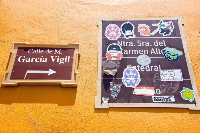 【オアハカ】Calle de Manuel Garcia Vigil