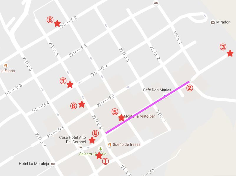 サレントの地図