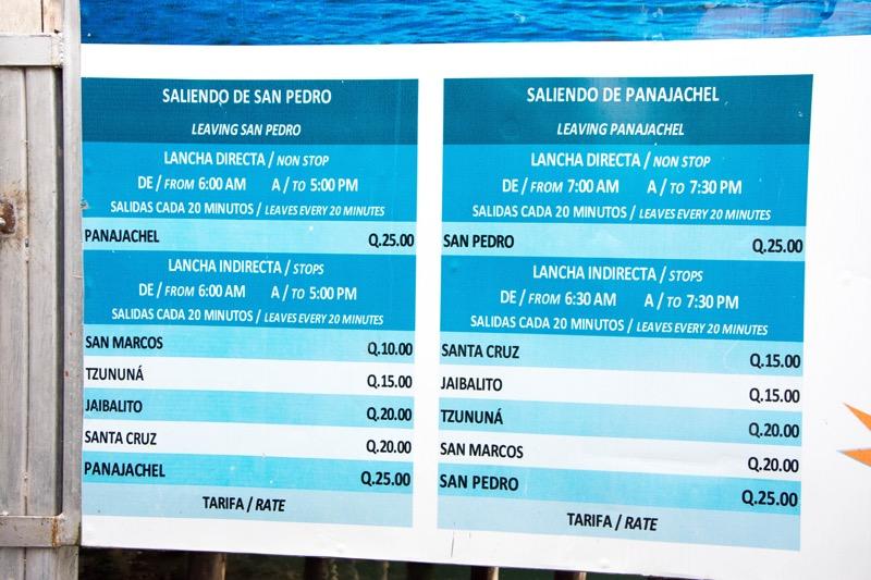 サンペドロからのボート