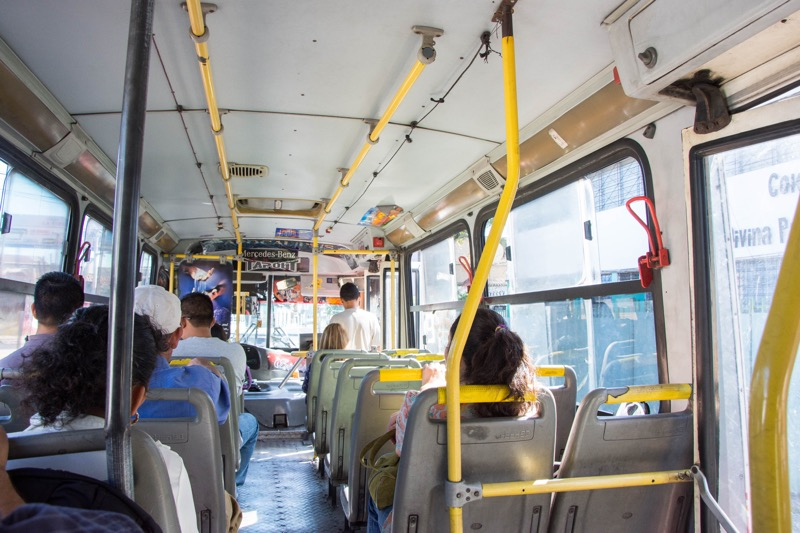 サンサルバドル|市内→バスターミナルの市バス