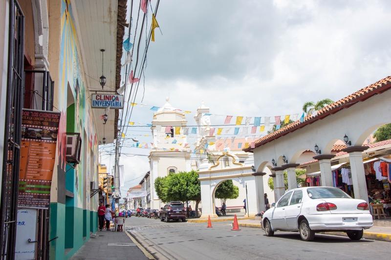 ニカラグア・レオンの街並み