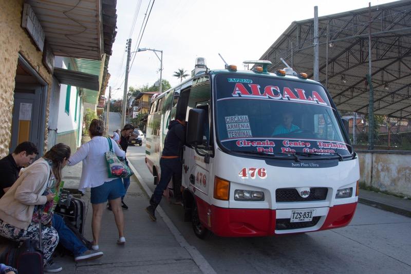 コロンビアのルート|サレント→アルメニア