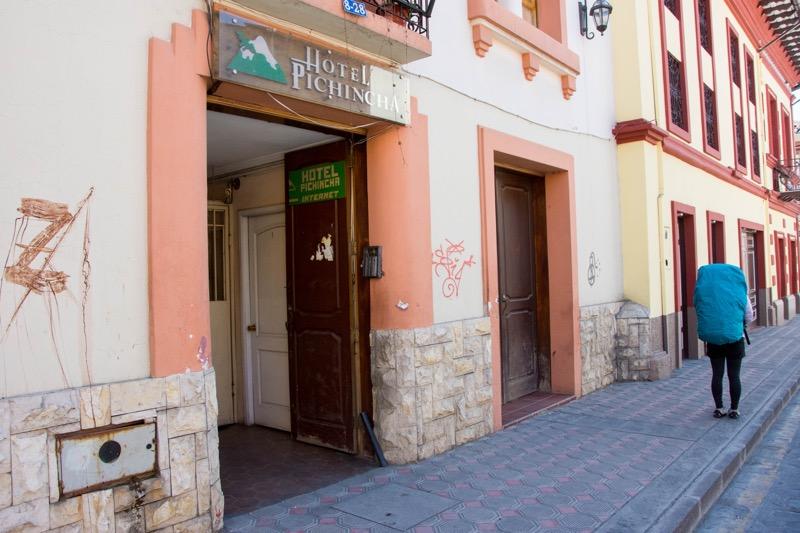 クエンカの安宿|HOTEL PICHINCHA