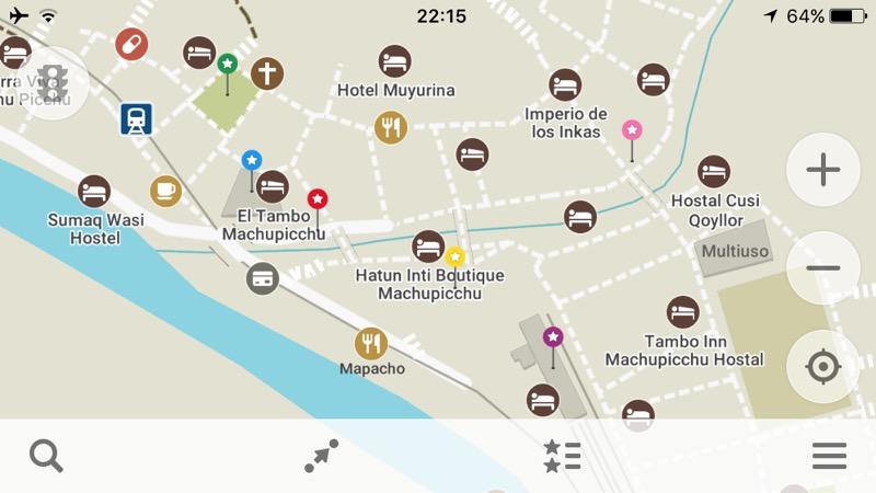 マチュピチュ村のマップ