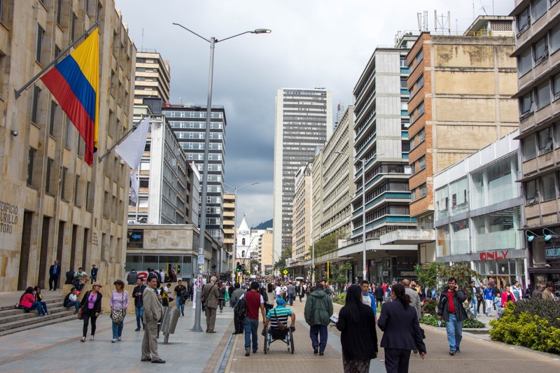 ボゴタ|旧市街の街並み