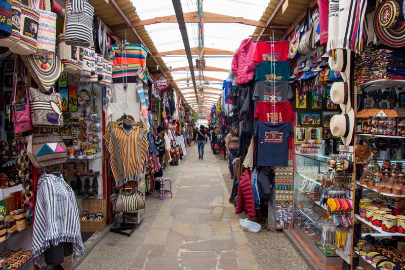 ボゴタ旧市街の観光地|お土産市場