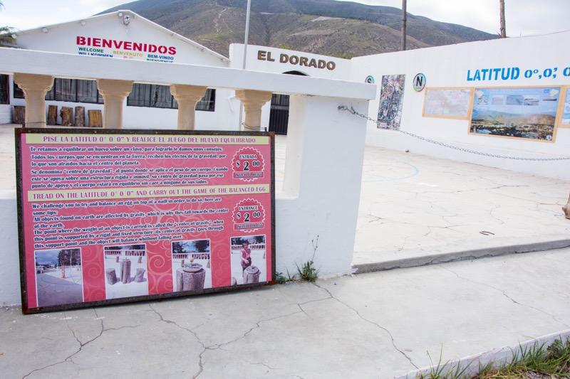 キト|本物の赤道が通っているレストラン「EL DORADO」
