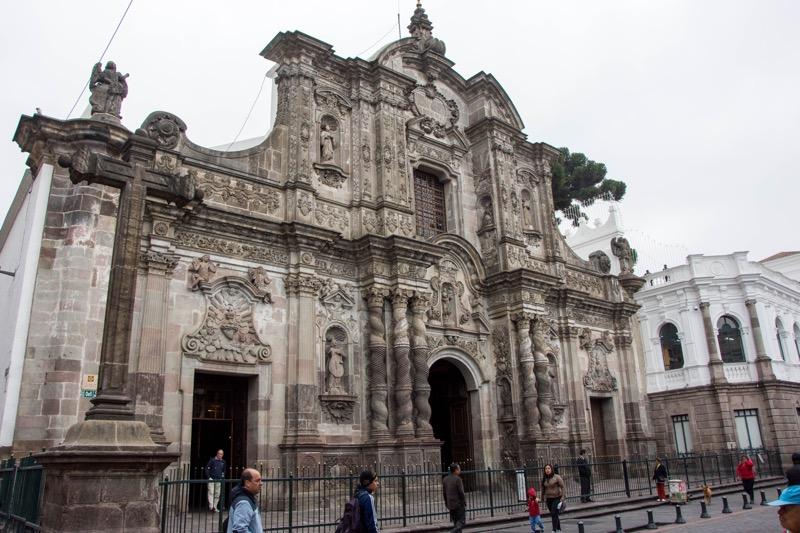 キト旧市街|ラ・コンバニーア教会(金色の教会)