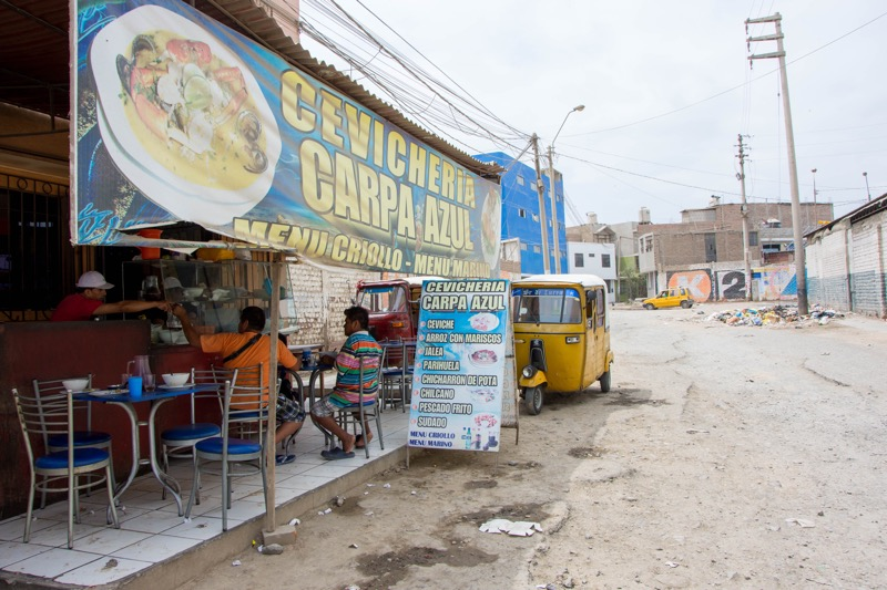 イカ|クルス・デル・スール近くの食堂