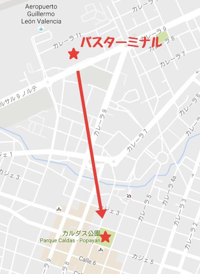 ポヤパン|バスターミナル地図
