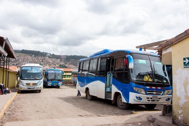 クスコ→ウルバンバのバス