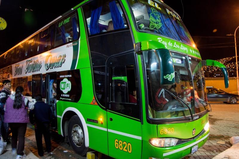 「ラパスからウユニへの行き方。バス・電車での移動方法を紹介。オススメのバス会社「TRANS TURISTICO OMAR」で移動。」のアイキャッチ画像