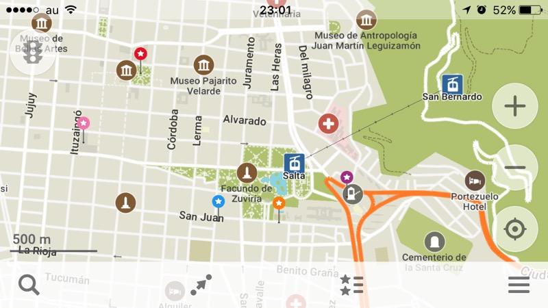 サルタの地図