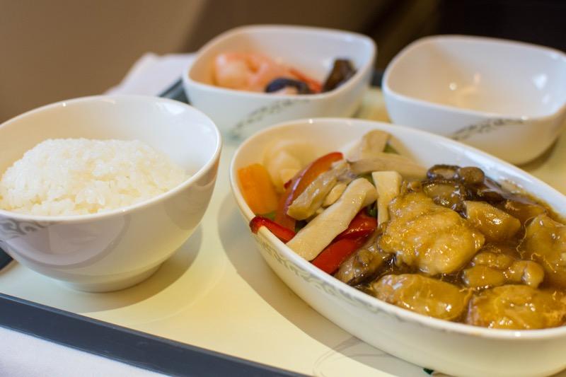 中国国際航空ビジネスクラス|北京→クアラルンプールの機内食
