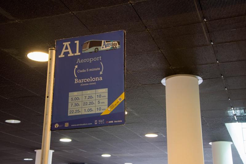 バルセロナ|空港→市内のバス