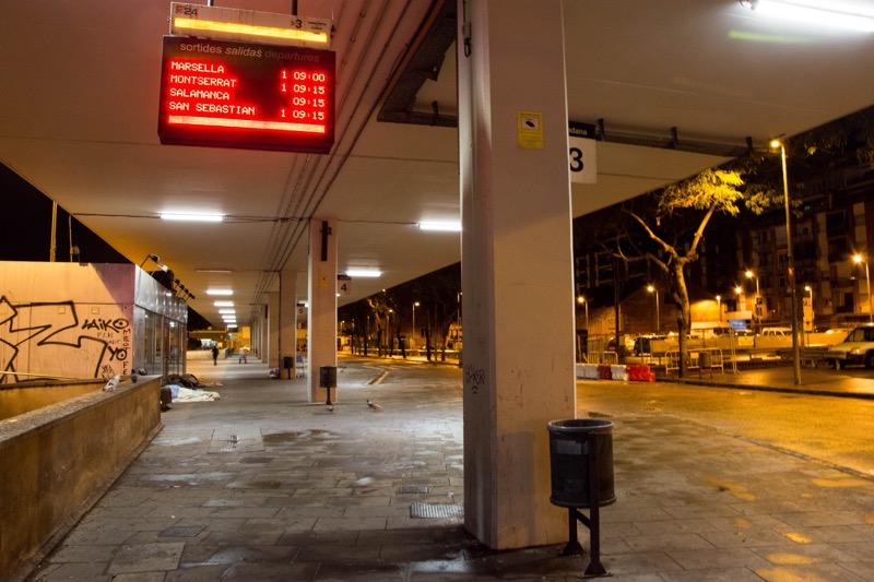 バルセロナ|サンツ駅バスターミナル
