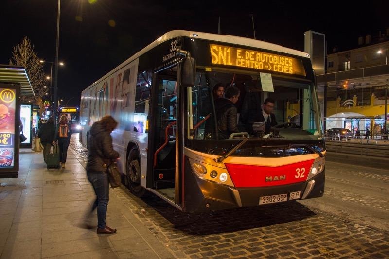 グラナダ|バスターミナル→市内のバス