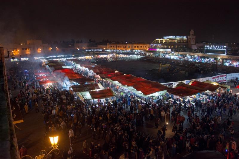 マラケシュのフナ広場