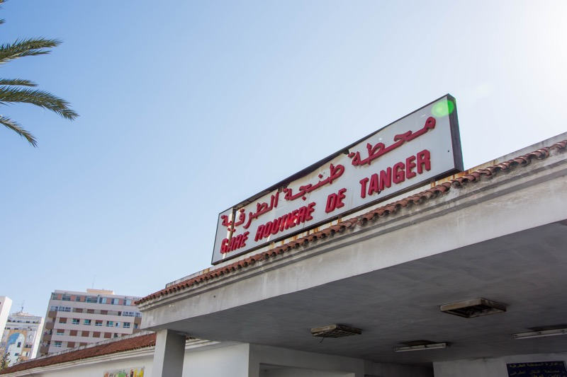 タンジェのバスターミナル